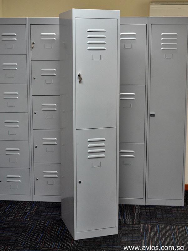 2 Tiers Metal Steel Locker Avios