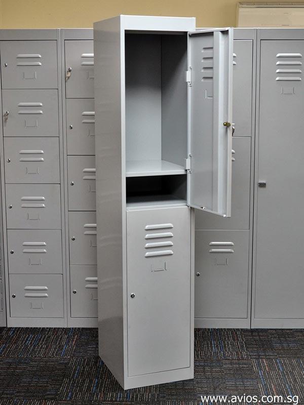 Tambour door storage cabinet
