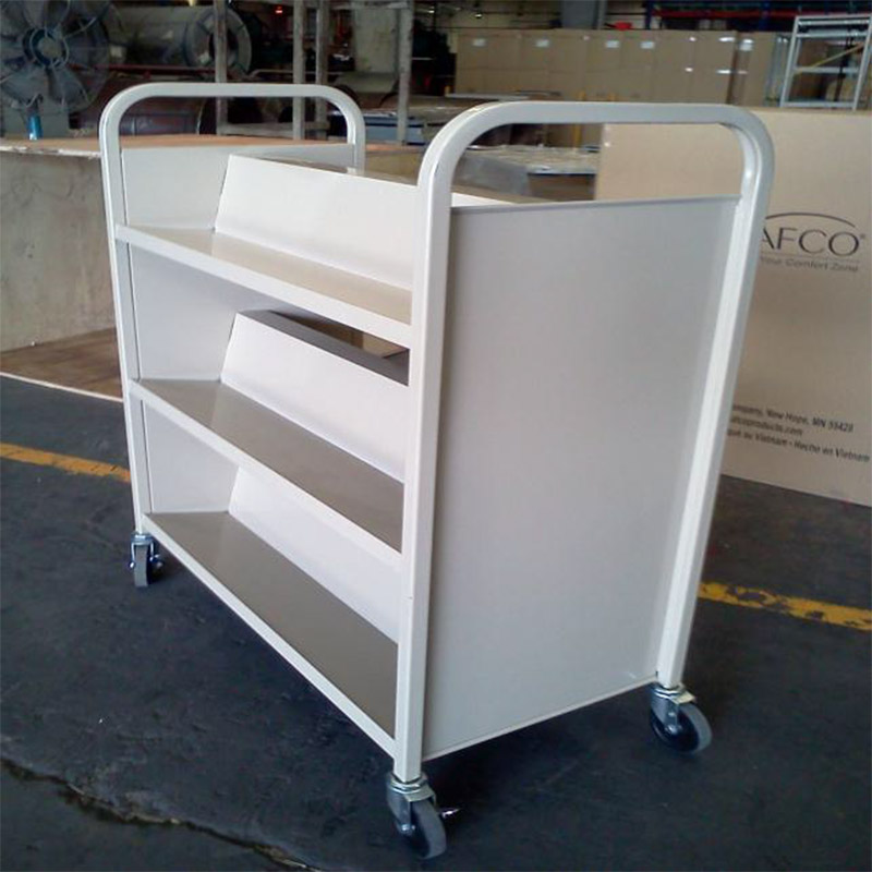 Double Sided Library Trolley